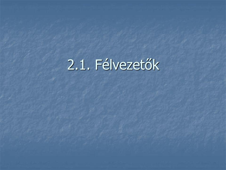 2.1. Félvezetők