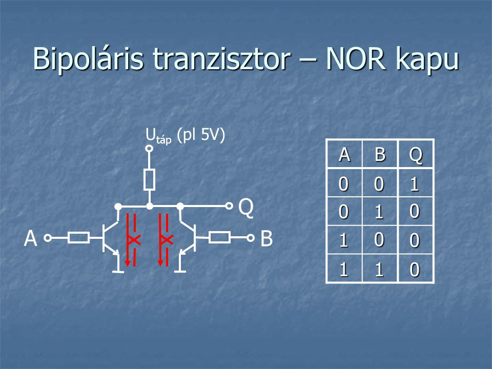 Bipoláris tranzisztor – NOR kapu