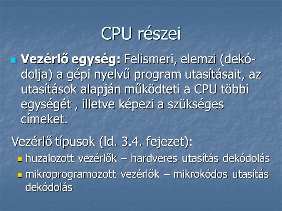 CPU részei