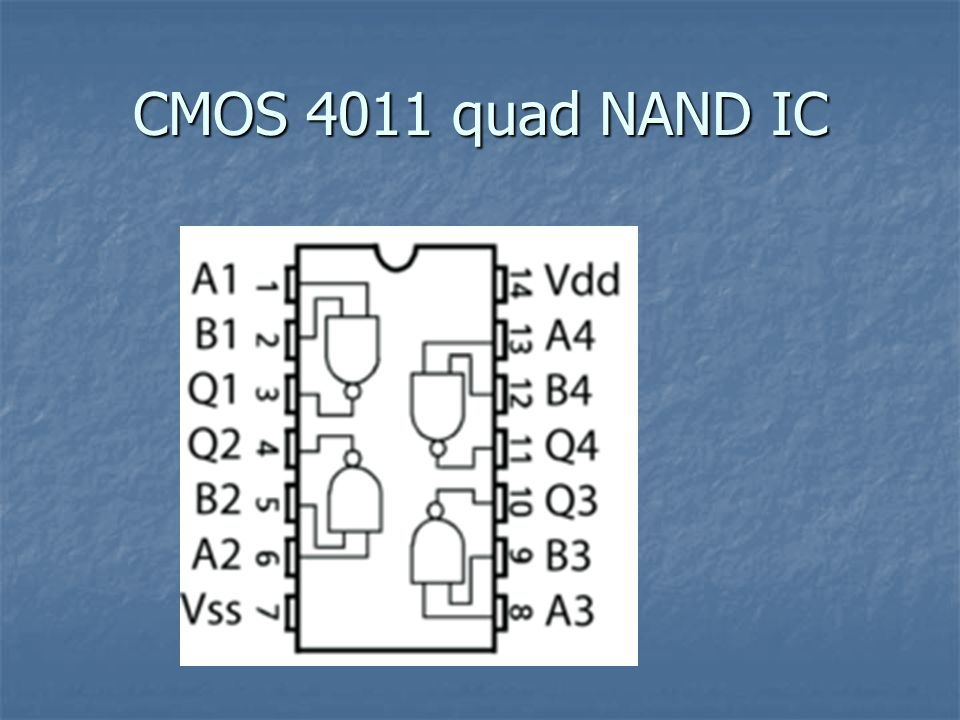 CMOS 4011 quad NAND IC