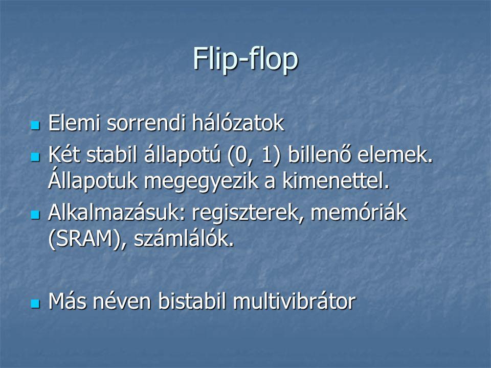 Flip-flop Elemi sorrendi hálózatok