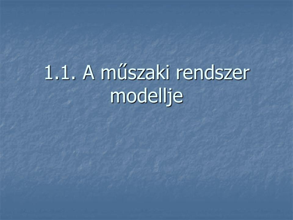 1.1. A műszaki rendszer modellje