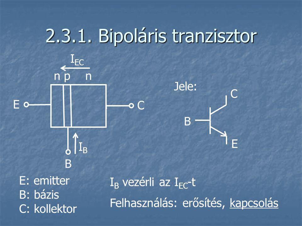 2.3.1. Bipoláris tranzisztor