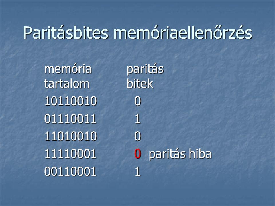 Paritásbites memóriaellenőrzés