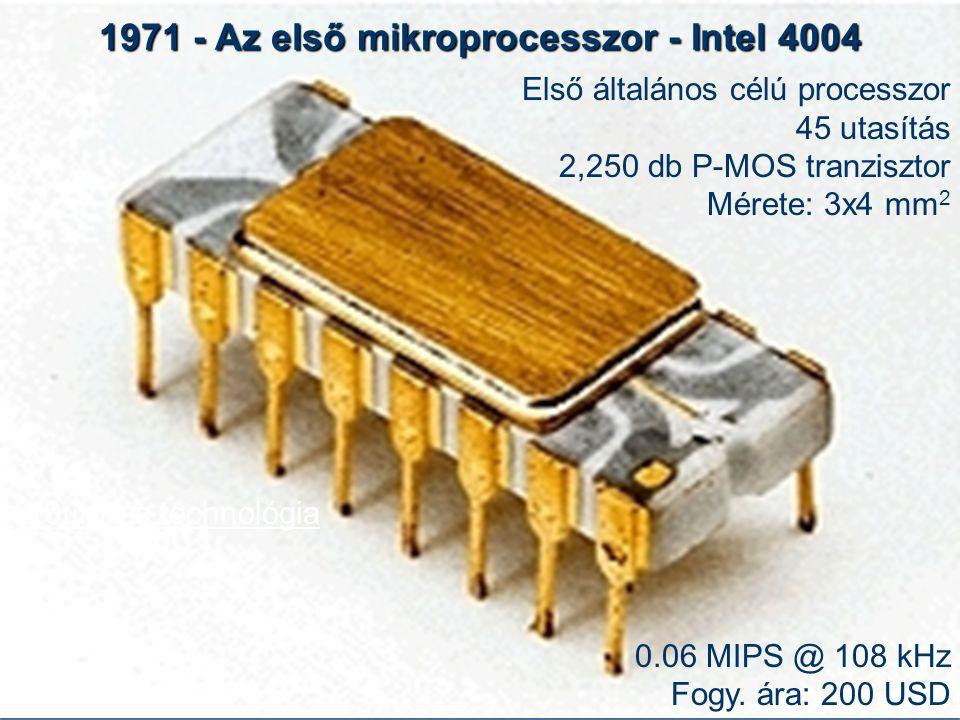 1971 - Az első mikroprocesszor - Intel 4004