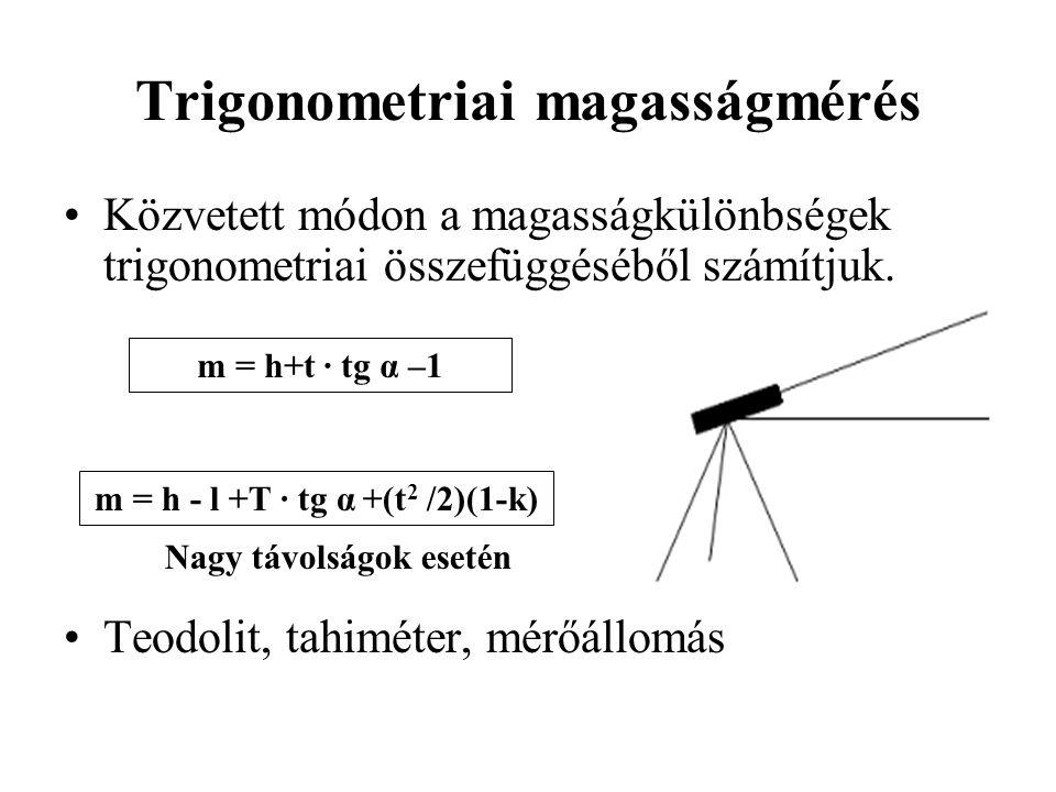 Trigonometriai magasságmérés