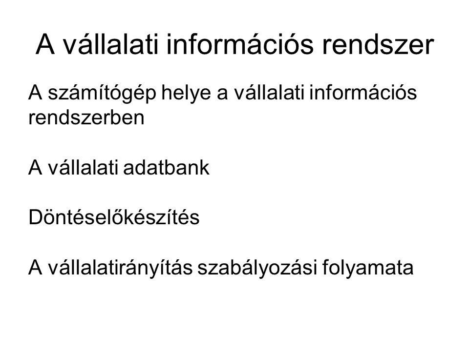 A vállalati információs rendszer