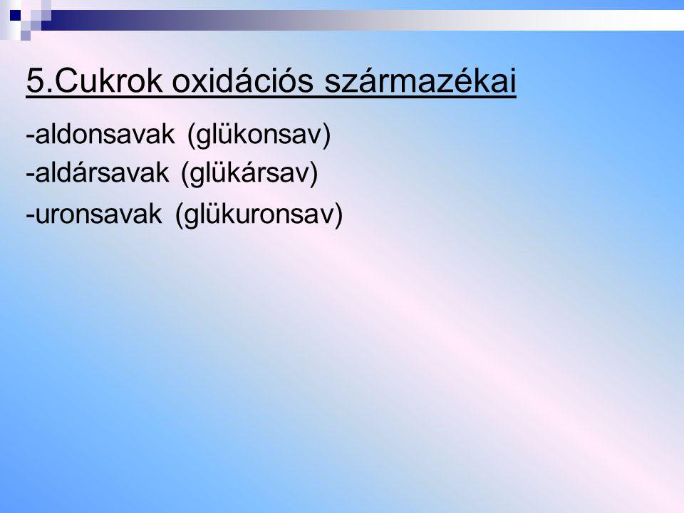 5.Cukrok oxidációs származékai