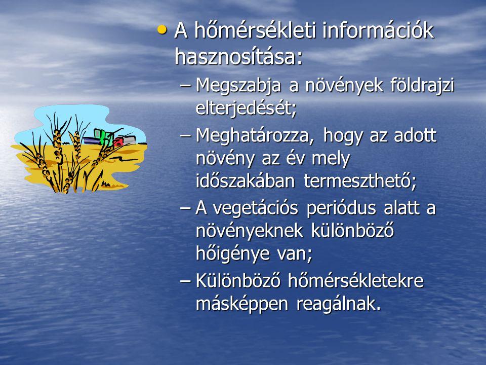 A hőmérsékleti információk hasznosítása: