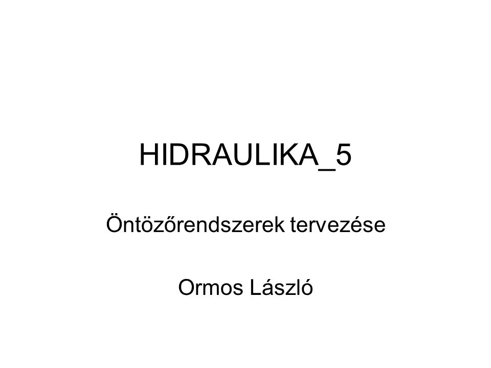 Öntözőrendszerek tervezése Ormos László