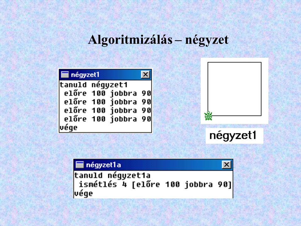 Algoritmizálás – négyzet