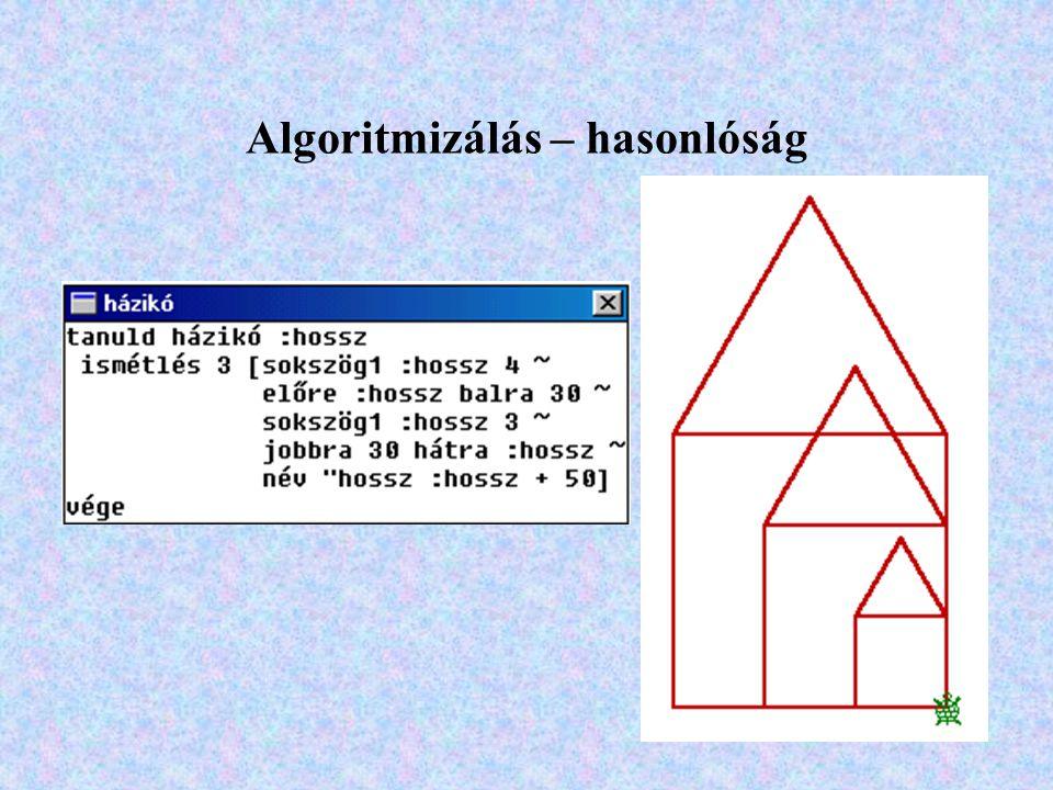 Algoritmizálás – hasonlóság
