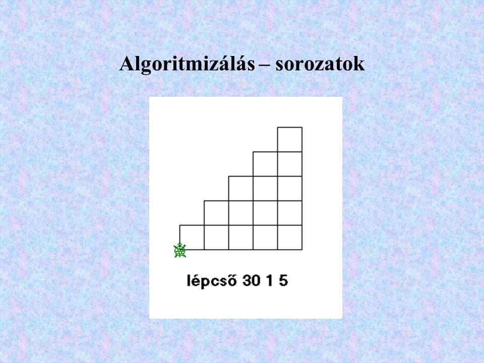 Algoritmizálás – sorozatok
