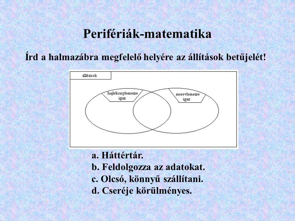 Perifériák-matematika