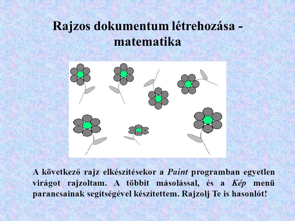 Rajzos dokumentum létrehozása - matematika