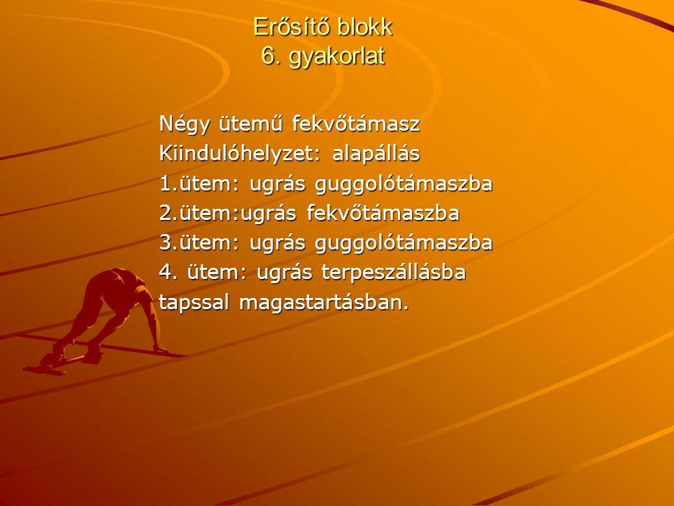 Erősítő blokk 6. gyakorlat