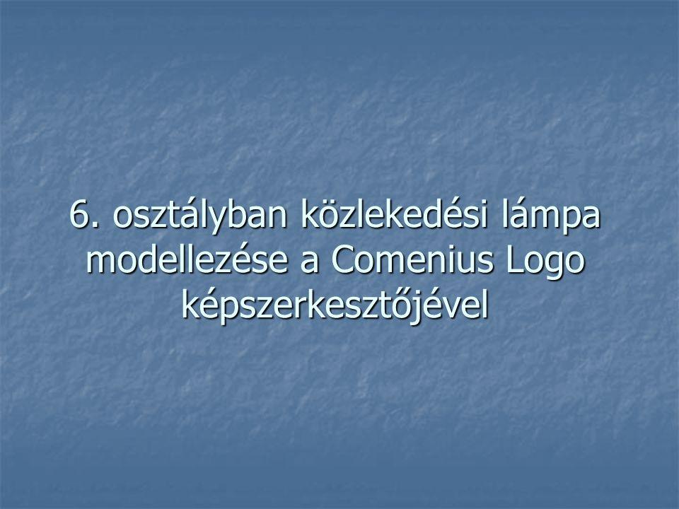 6. osztályban közlekedési lámpa modellezése a Comenius Logo képszerkesztőjével