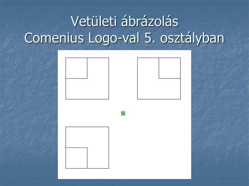 Vetületi ábrázolás Comenius Logo-val 5. osztályban