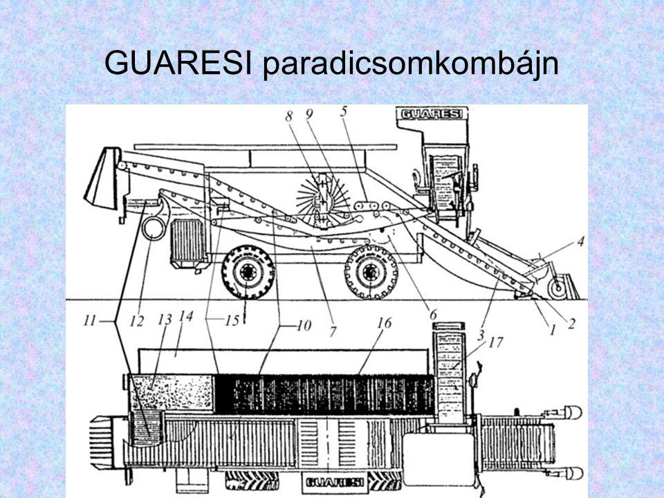 GUARESI paradicsomkombájn