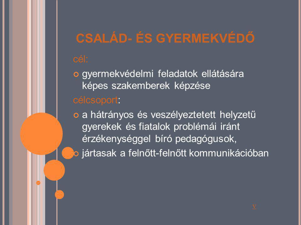 CSALÁD- ÉS GYERMEKVÉDŐ