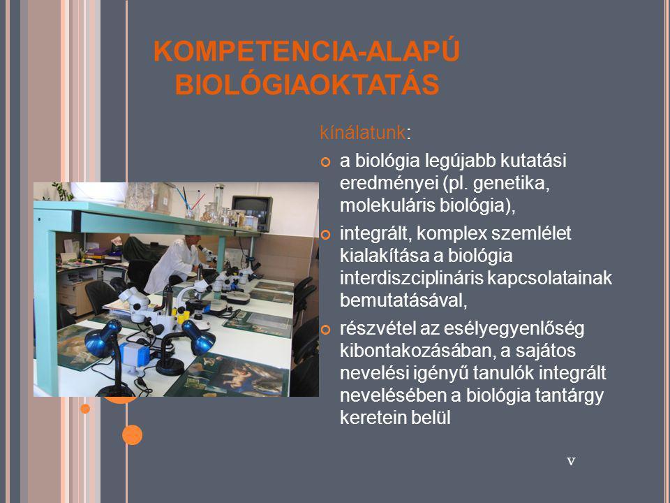 KOMPETENCIA-ALAPÚ BIOLÓGIAOKTATÁS