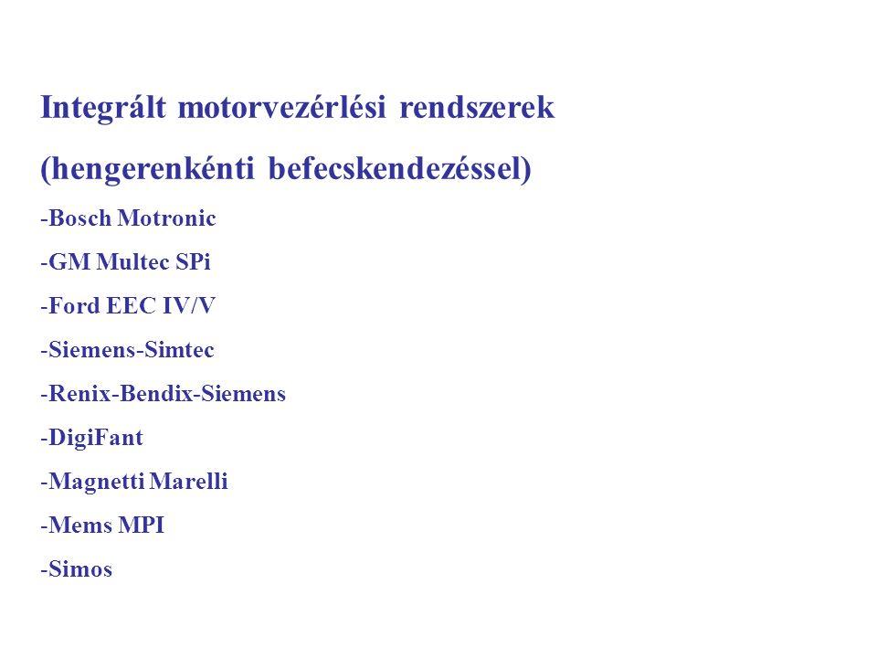 Integrált motorvezérlési rendszerek (hengerenkénti befecskendezéssel)