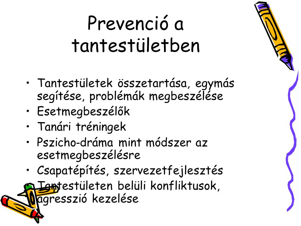 Prevenció a tantestületben