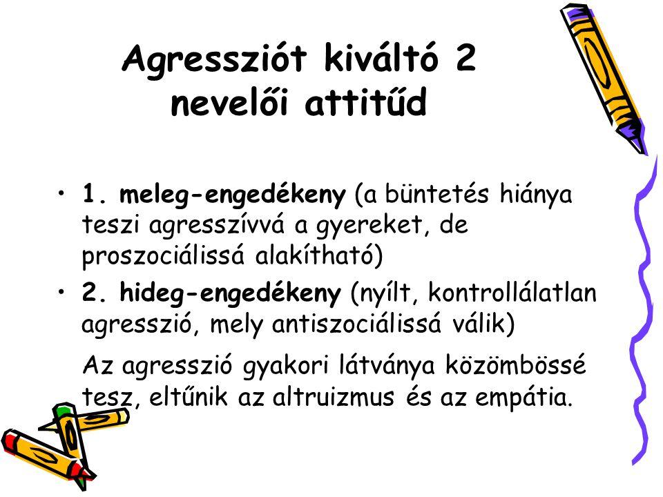 Agressziót kiváltó 2 nevelői attitűd
