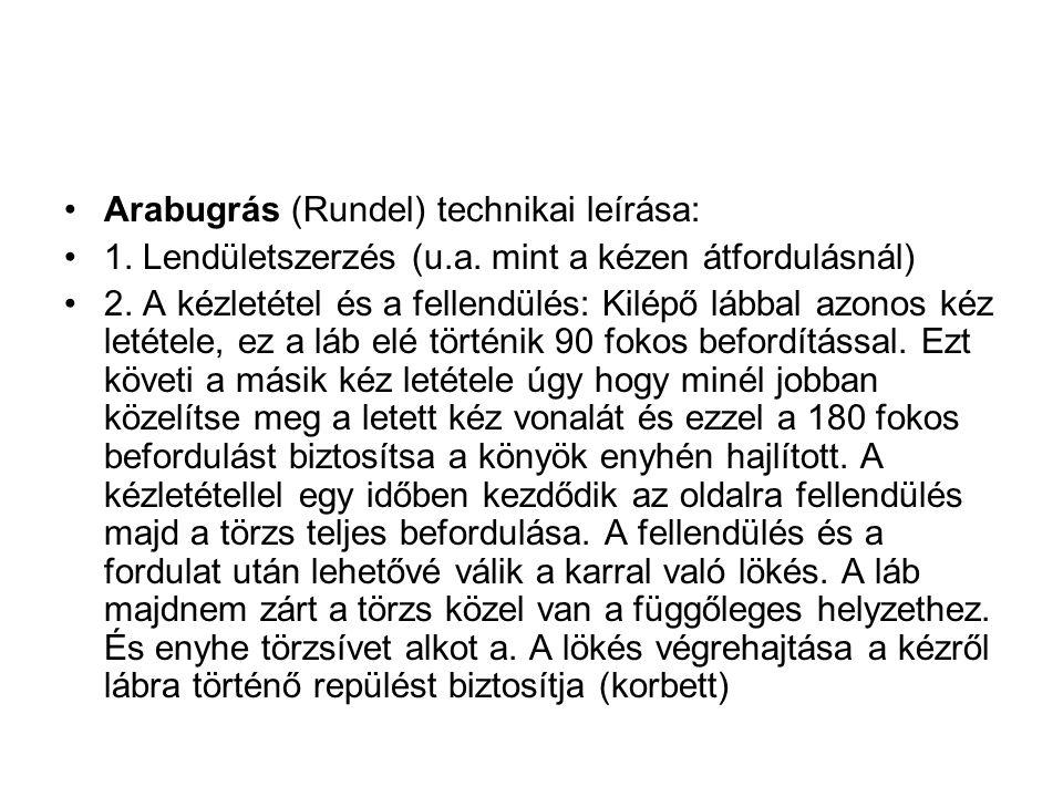 Arabugrás (Rundel) technikai leírása: