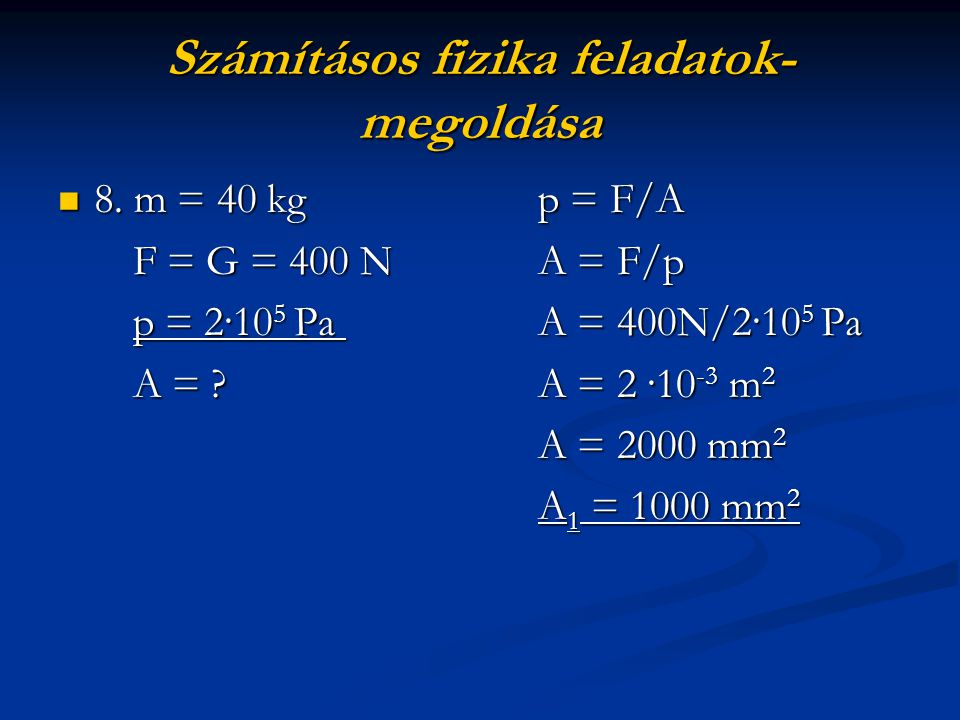 Számításos fizika feladatok-megoldása