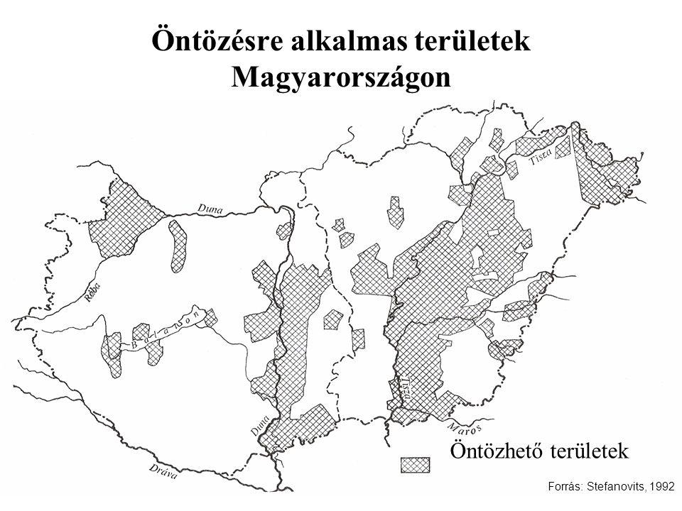 Öntözésre alkalmas területek Magyarországon