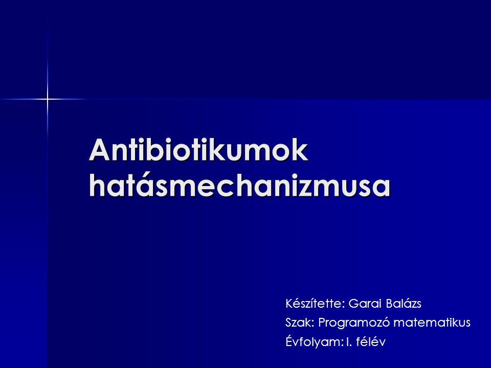 Antibiotikumok hatásmechanizmusa