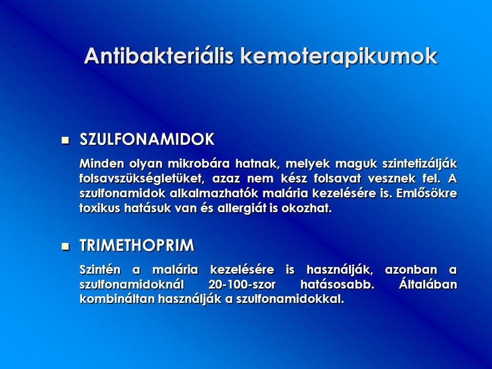 Antibakteriális kemoterapikumok