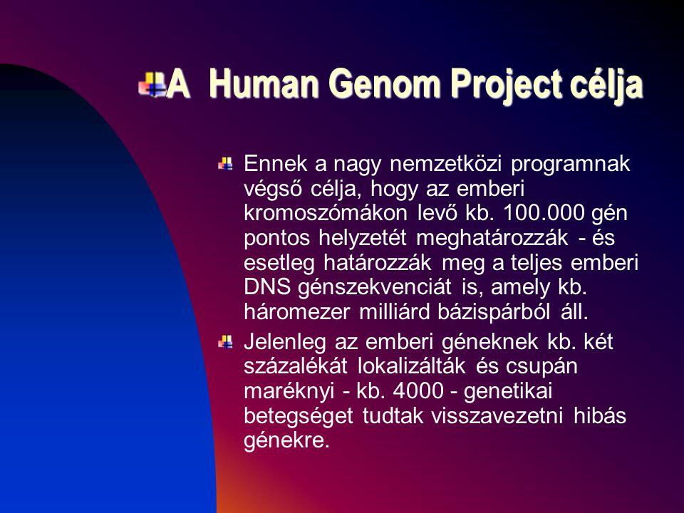 A Human Genom Project célja
