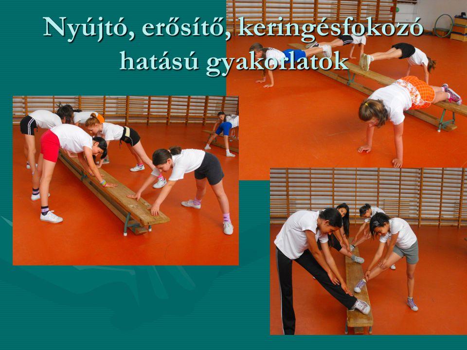 Nyújtó, erősítő, keringésfokozó hatású gyakorlatok