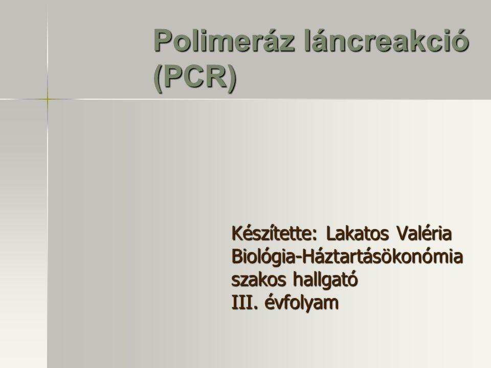 Polimeráz láncreakció (PCR)