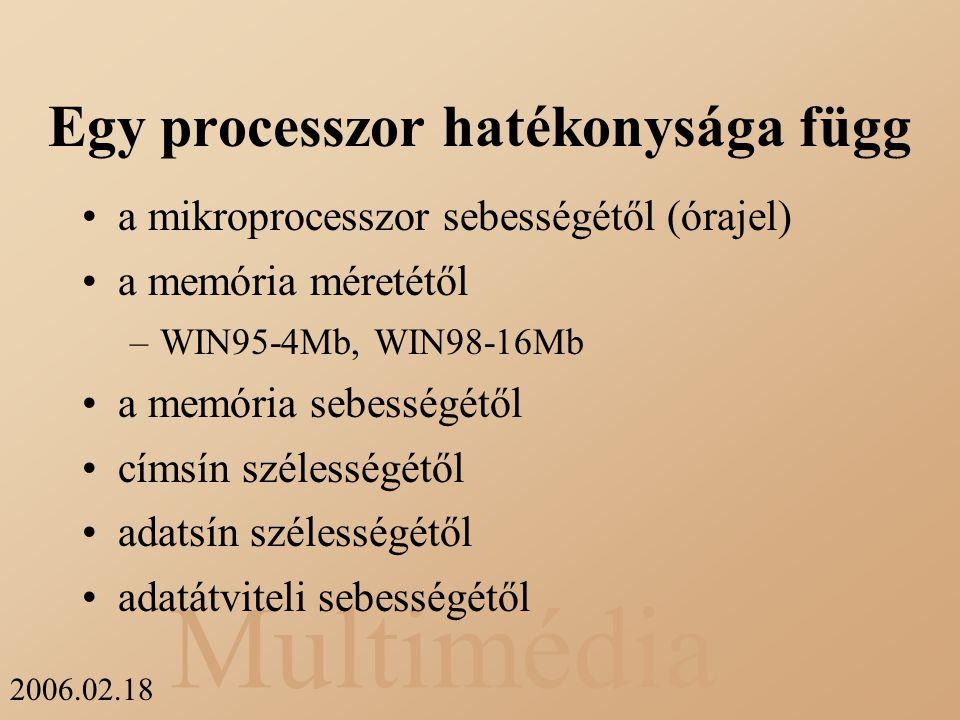 Egy processzor hatékonysága függ