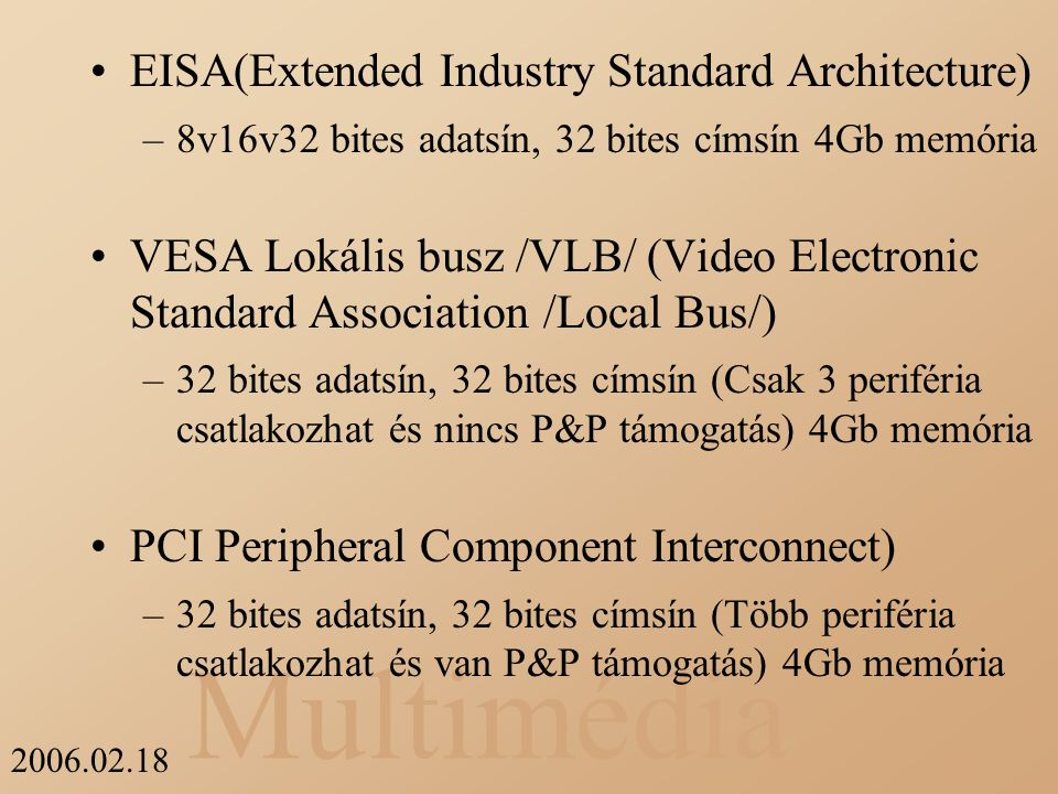 EISA(Extended Industry Standard Architecture)