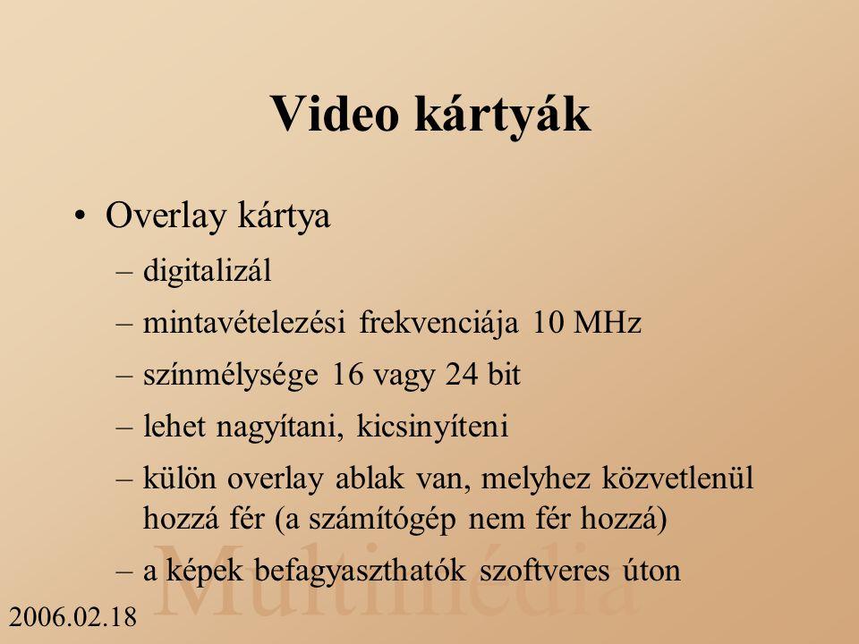 Video kártyák Overlay kártya digitalizál