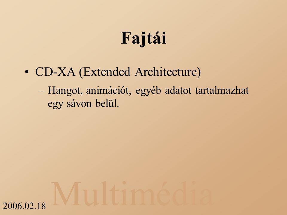 Fajtái CD-XA (Extended Architecture)