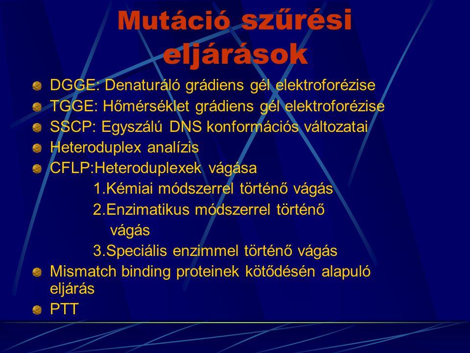 Mutáció szűrési eljárások