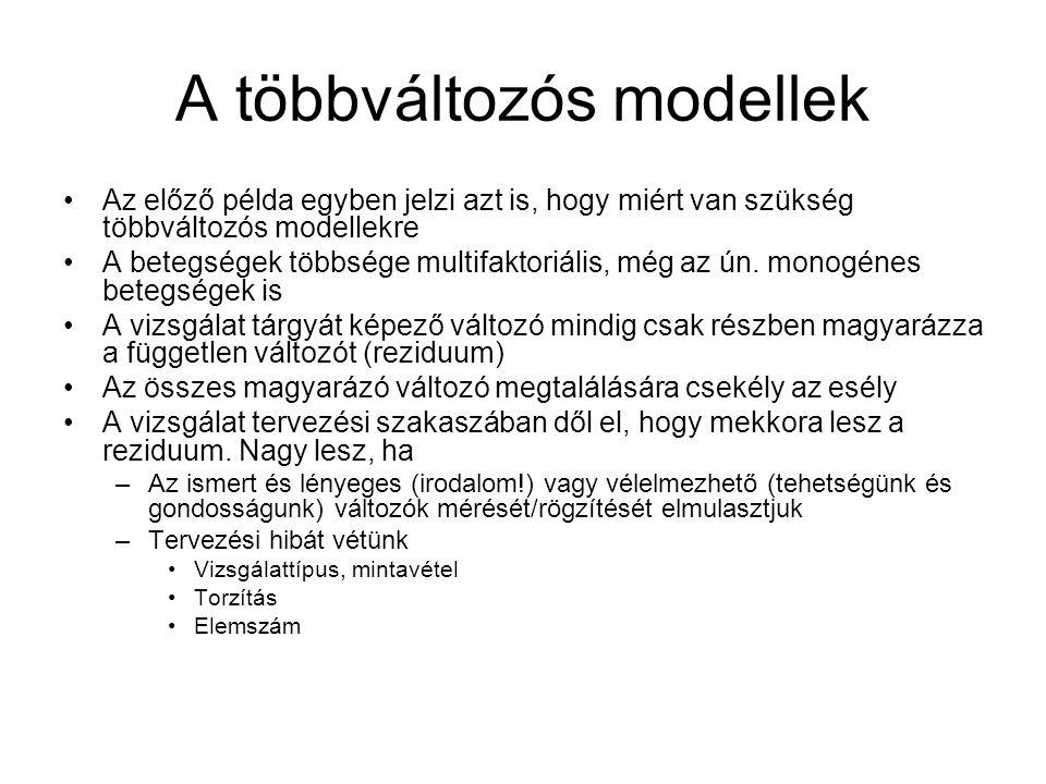 A többváltozós modellek
