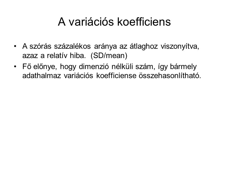 A variációs koefficiens