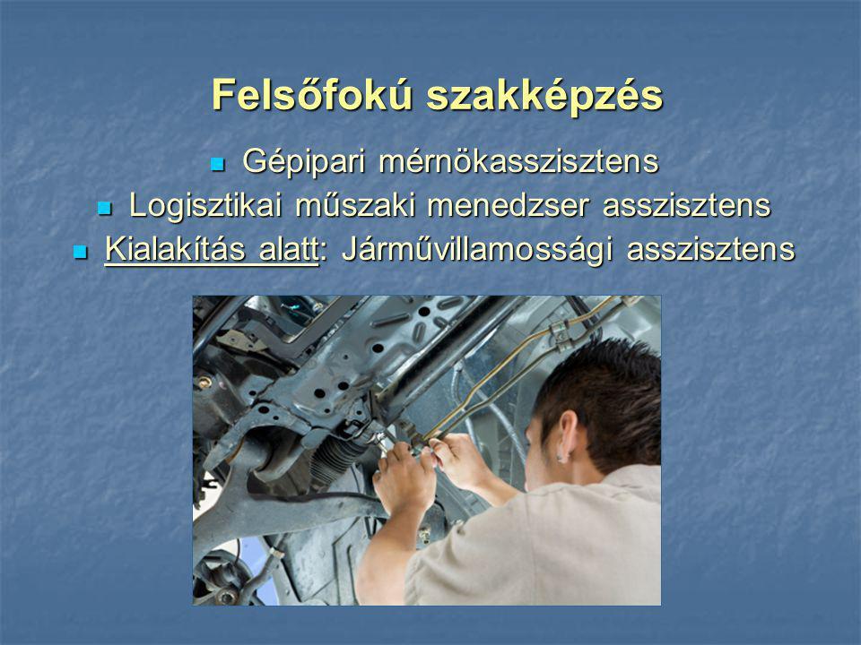 Felsőfokú szakképzés Gépipari mérnökasszisztens