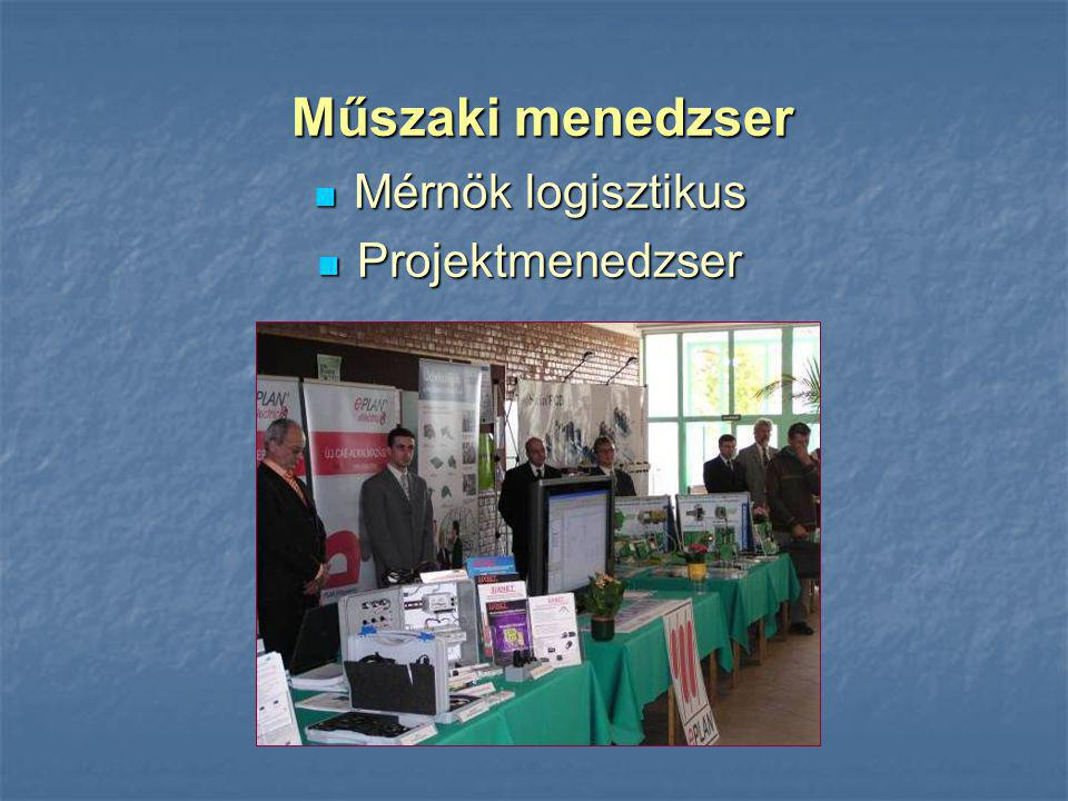 Műszaki menedzser Mérnök logisztikus Projektmenedzser