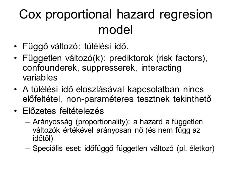 Cox proportional hazard regresion model
