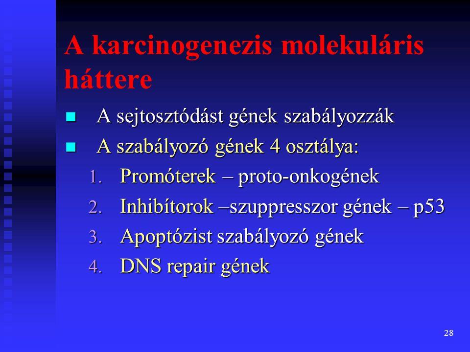 A karcinogenezis molekuláris háttere