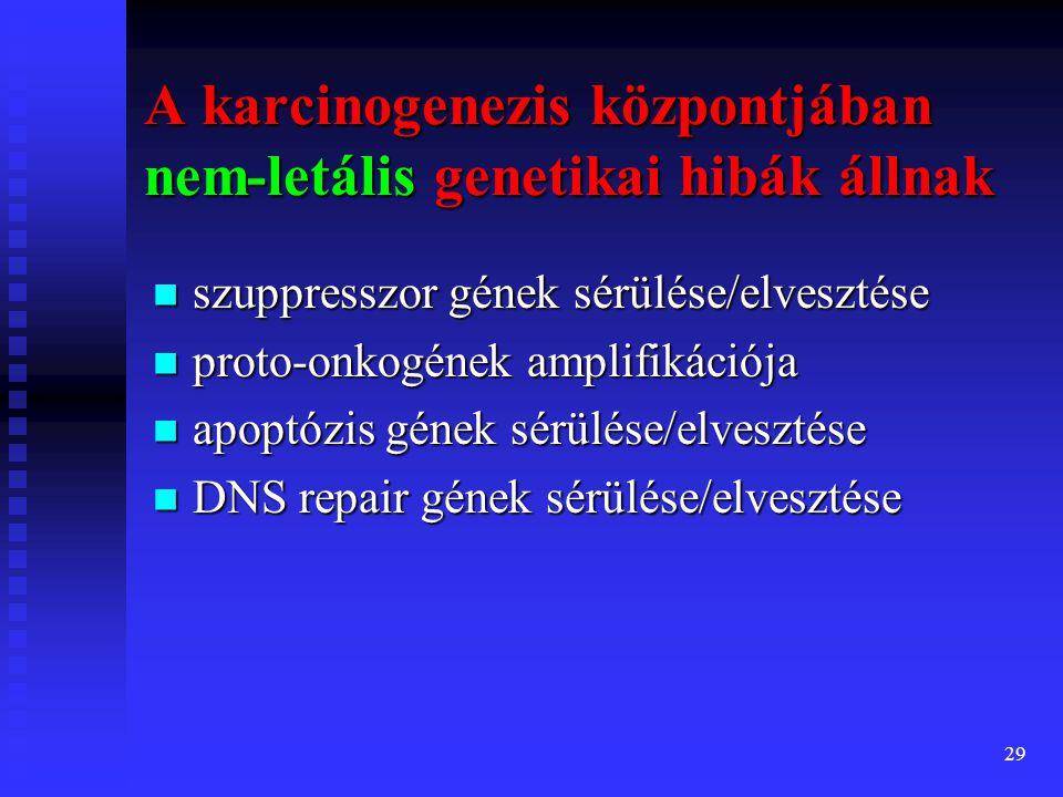 A karcinogenezis központjában nem-letális genetikai hibák állnak