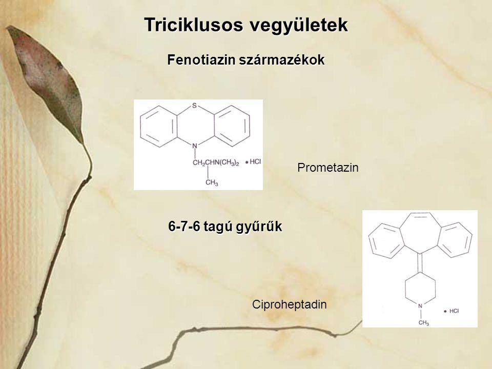 Triciklusos vegyületek Fenotiazin származékok