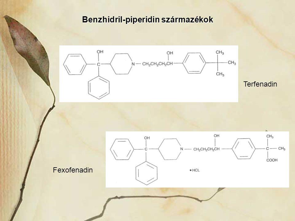 Benzhidril-piperidin származékok